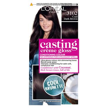 L'Oreal Casting Creme Gloss 3102 Cool Dark Brown Cool Brunette Brown Semi Permanent Hair Dye
