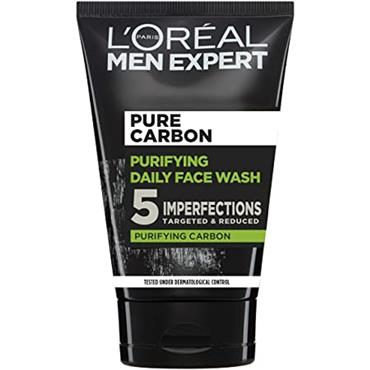 L'OREAL MEN EXPERT PURE CARBON ANTI IMPERFECTION DAILY FACE WASH 100ML