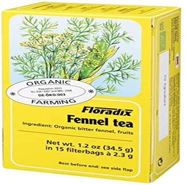 FLORADIX Organic Fennel Tea 15 Teabags