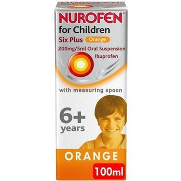 nurofen Children 6+ Orange 200mg/5ml Oral Suspension 100ml