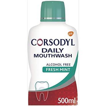 CORSODYL DAILY MOUTH WASH AF FRESH MINT 500ML