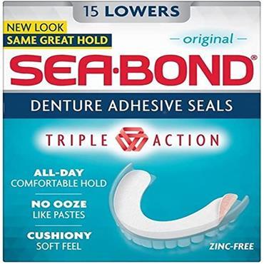 SEABOND DENTURE 15 LOWERS