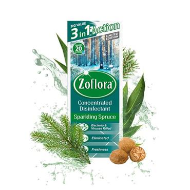 ZOFLORA SPARKLING SPRUCE CONCENTRATED DISINFECTANT 120ML