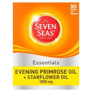 7 SEAS Evening primrose oil plus starflower oil 1000mg capsules 30