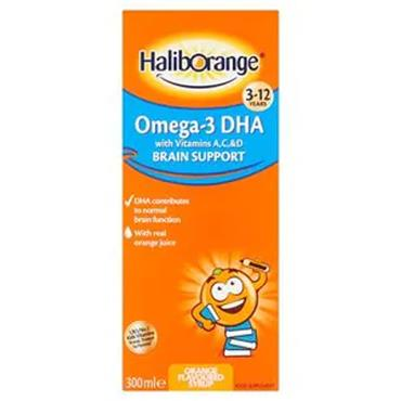 Haliborange Omega 3 with Vitamins AC&D Brain Support Liquid Orange 300ml