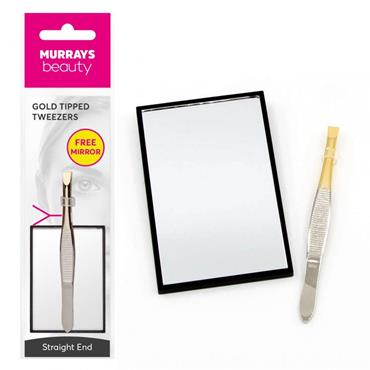 GOLD TIP TWEEZERS WITH FREE COSMETIC MIRROR