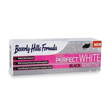 BEVERLY HILLS FORMULA PERFECT WHITE BLACK SENSITIVE TOOTHPASTE 100ML