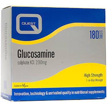 QUEST GLUCOSAMINE SULPHATE KCL TABLETS 180