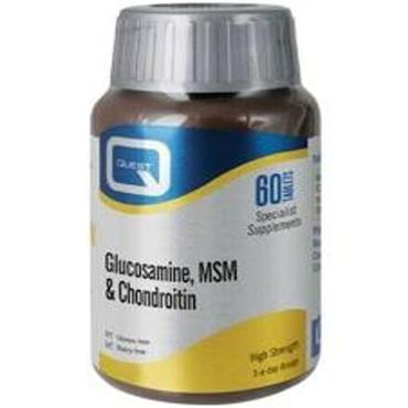 QUEST GLUCOSAMINE MSM AND CHONDROITIN TABLETS 90
