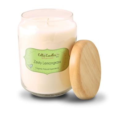 Celtic Candles Zesty Lemongrass  candle large pop jar