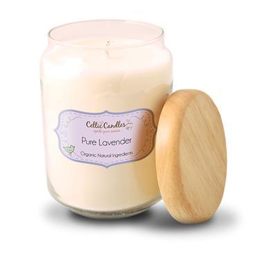 Celtic Candles Pure Lavender candle large pop jar