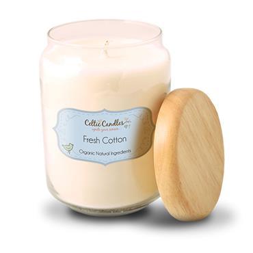 Celtic Candles Fresh Cotton candle large pop jar