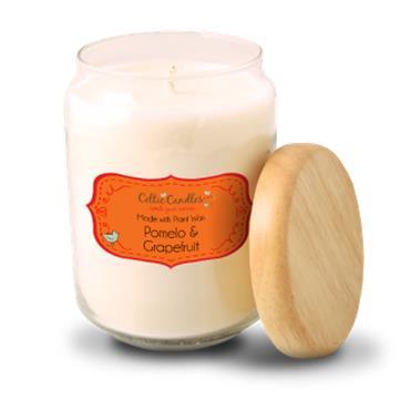 Celtic Candles Pomelo & Grapefruit candle large pop jar