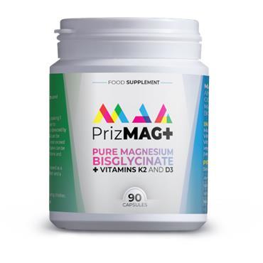 PRIZMAG+ PURE MAGNESIUM BIGLYCINATE + VIT K2 & D3 90