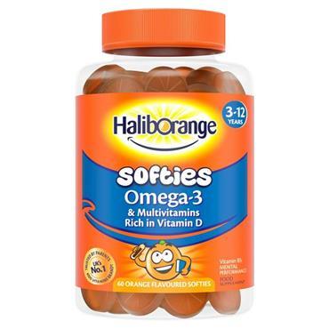 Haliborange Softies Omega 3 & Multivitamins 3 -12 years orange 60s