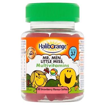 Haliborange Mr Men Multivitamins 3 to 7 years Strawberry 30s