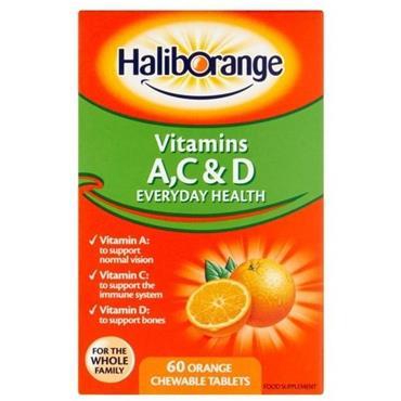 Haliborange Vitamins AC&D Everyday Health Orange chewable tablets 60s