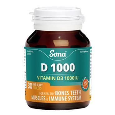 Sona Vitamin D 1000 tablets 30