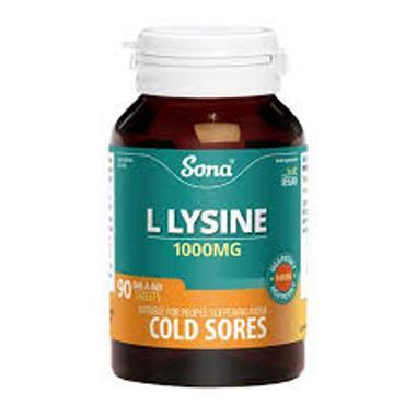 Sona Lysine 1000mg tablets 90