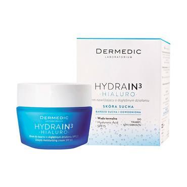 dermedic HYDRAIN3 HIALURO deeply moisturizing cream SPF15 50g