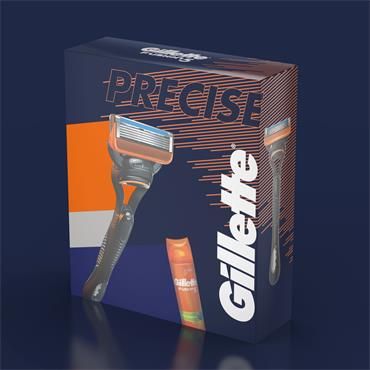 GILLETTE PRECISE FUSION 1UP RAZOR & 200ML FUSION GEL