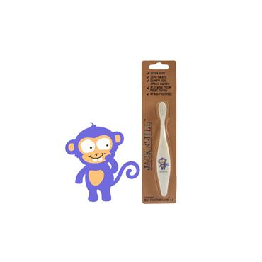 Jack n Jill Biodegradable Cornstarch Toothbrush Monkey
