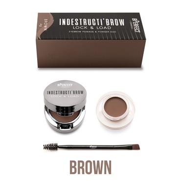B Perfect Indestructibrow Lock And Load Eyebrow Pomade And Powder Duo Brown 4g