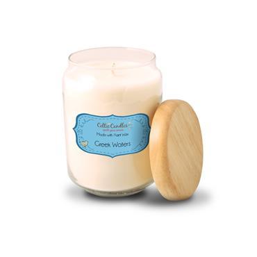 celtic candles greek waters large pop jar