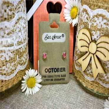 Earsense October Birthstone Stud Earrings