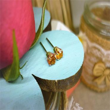 Earsense November Birthstone Stud Earrings