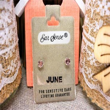 Earsense June Birthstone Stud Earrings