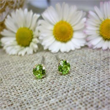 Earsense August Birthstone Stud Earrings