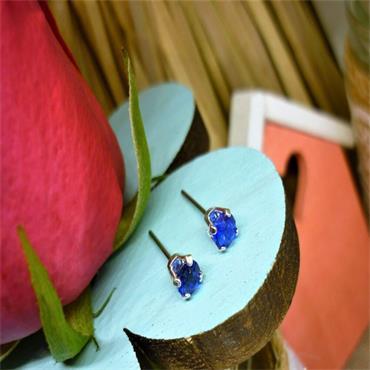 Earsense September Birthstone Stud Earrings