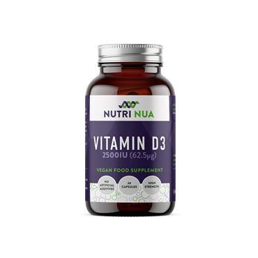 Nutri Nua Vitamin D3 2500iu Vegan Capsules 30s