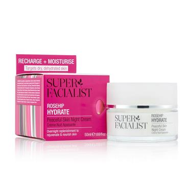 Super Facialist Rose Hydrate Peaceful Skin Night Cream 50ml