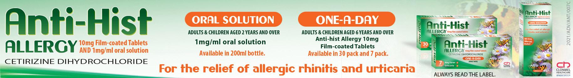 hayfever allergy anithist cetrine