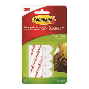 COMMAND POSTERS STRIPS 12 PACK   3M17024