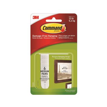 COMMAND 3M PICTURE HANGING STRIPS   3M17204-ES