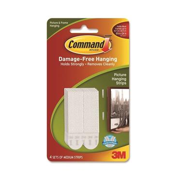 COMMAND 3M MEDIUM PICTURE HANG STRIPS   3M17201