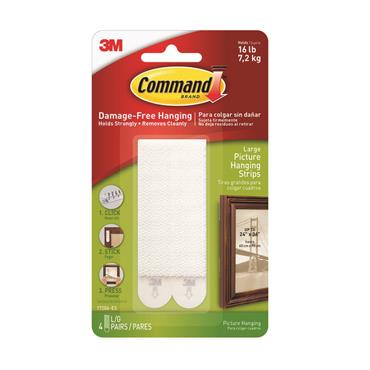 COMMAND 3M LARGE PICTURE HANGING STRIP   3M17206