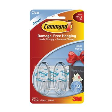 COMMAND 3M OVAL HOOKS CLEAR   3M17092CLR