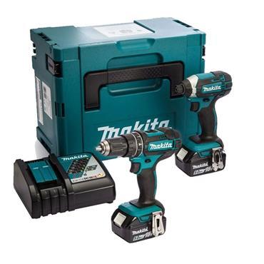 Makita 18v Combi Drill & Impact Driver Twinpack 2 x 5.0Ah Batteries | DLX2131TJ