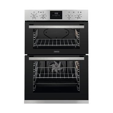 Zanussi Built-In Double Electric Oven - Satinless Steel | ZOD35661XK