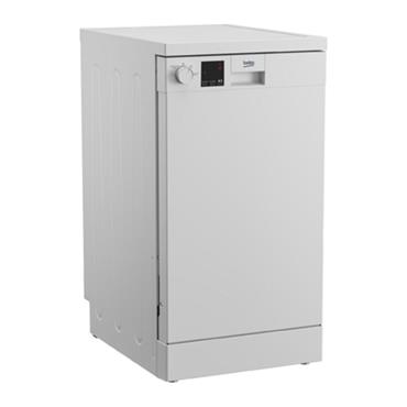 Beko 45cm 10 Place Slimline Dishwasher - White   DVS04020W