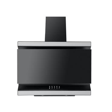 Luxair 60cm Ison Angled Cooker Hood - Black | LA-60-ISON-BLK