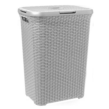 Curver Rattan Laundry Hamper Basket - Grey | CUR246440