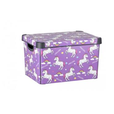 Curver Unicorn Decorated Storage Box 40cm x 30cm x 25cm | CUR236748