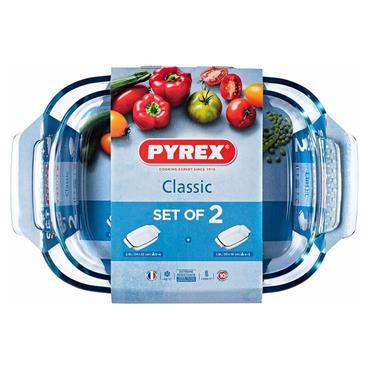Pyrex 2 Piece Roaster Set ( 34cm x 22cm 30cm x 19cm) | PX0912S67