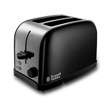 Russell Hobbs Dorchester 2 Slice Toaster Stainless Steel and Black  | 18782