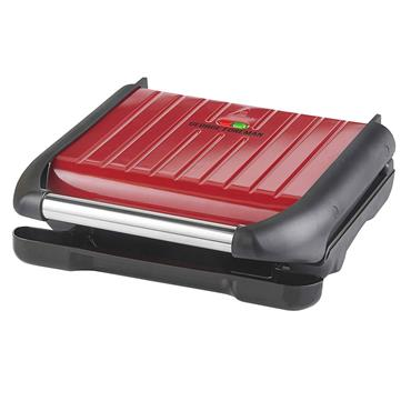George Foreman 5 Portion Family Grill Red Steel   25040